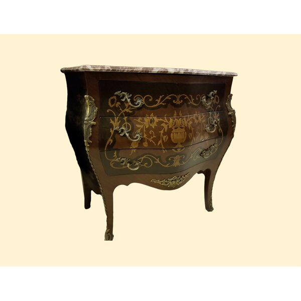 Louis XV 3 Drawer Accent Chest By IDesign