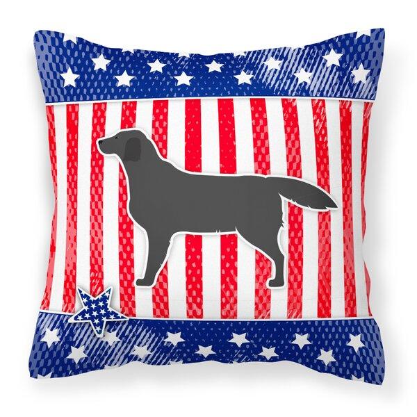Patriotic USA Labrador Retriever Indoor/Outdoor Throw Pillow by The Holiday Aisle