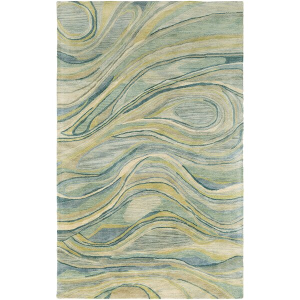 Natural Affinity Hand-Tufted Green/Beige Area Rug by Shell Rummel