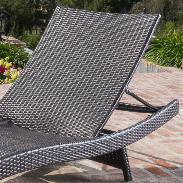 Bellview Reclining Chaise Lounge with Cushion (Set of 2) by Sol 72 Outdoor