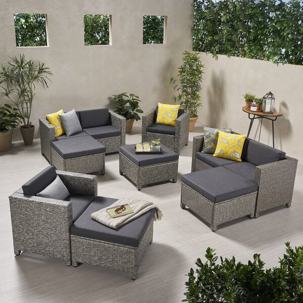 Kraemer Outdoor Patio Sectional with Cushions by Ivy Bronx Ivy Bronx
