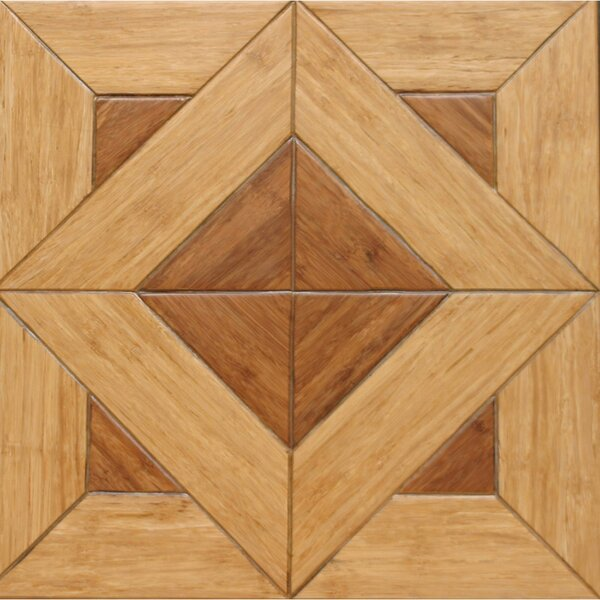 15.75 Engineered Bamboo Wood Parquet Hardwood Flooring in Versailles by Islander Flooring