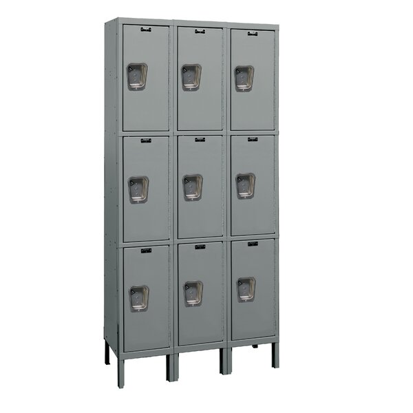 Maintenance-Free 3 Tier 3 Wide Employee Locker by Hallowell