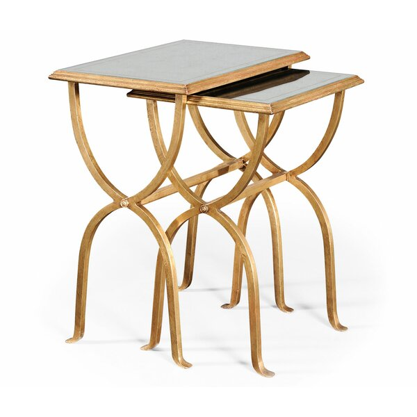 Luxe 2 Piece Nesting Tables By Jonathan Charles Fine Furniture