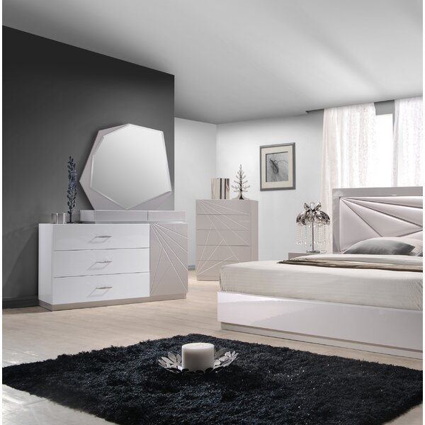 Ernesto 3 Drawer Dresser with Mirror by Wade Logan
