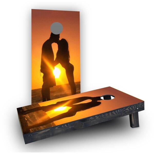 Romantic Sunset by the Sea Cornhole Boards (Set of 2) by Custom Cornhole Boards