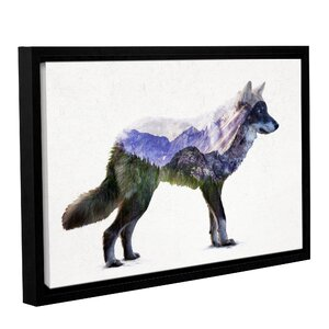 Rocky Mountain Gray Wolf Framed Graphic Art by Loon Peak