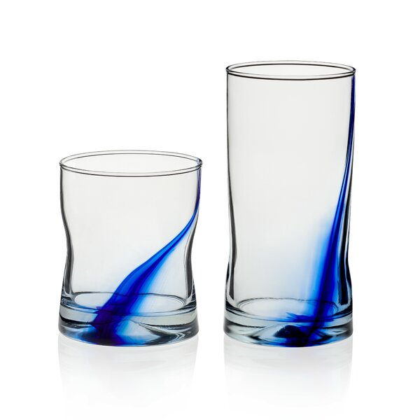 Blue Ribbon Impressions 16 Piece Glass Assorted Glassware Set by Libbey