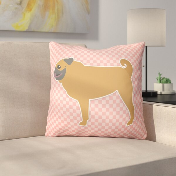 Pug Indoor/Outdoor Throw Pillow by East Urban Home