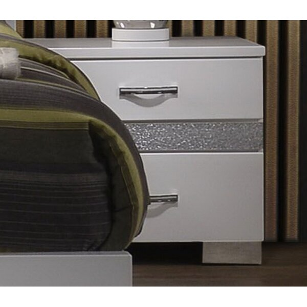 Dewitt 3 Drawer Nightstand by Orren Ellis