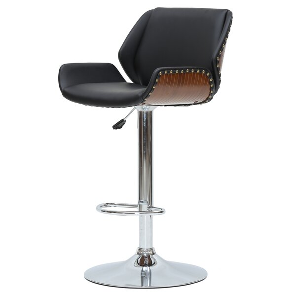 Rubio 24 Adjustable Height Swivel Bar Stool by Orren Ellis