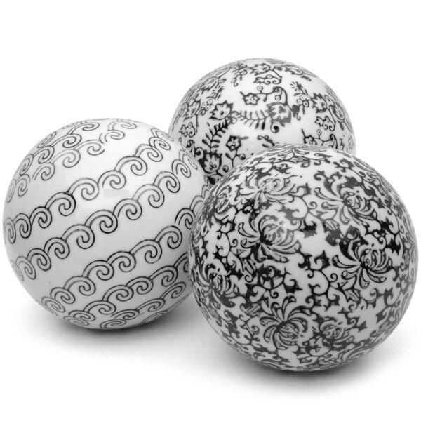 3 Piece Decorative Ball Sculpture Set by Oriental Furniture