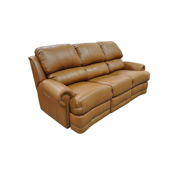 Morgan Leather Reclining Sofa by Omnia Leather
