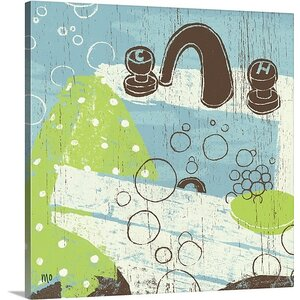 'Bathroom Bubbles I' by Michael Mullan Painting Print on Wrapped Canvas by Great Big Canvas