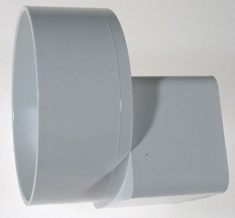 PVC Offset Downspout Adapter by GenovaProducts