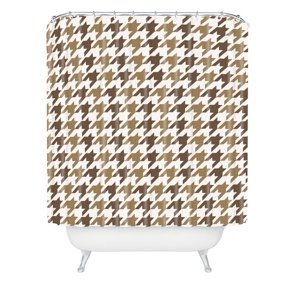 Allyson Johnson Classy Houndstooth Shower Curtain by East Urban Home