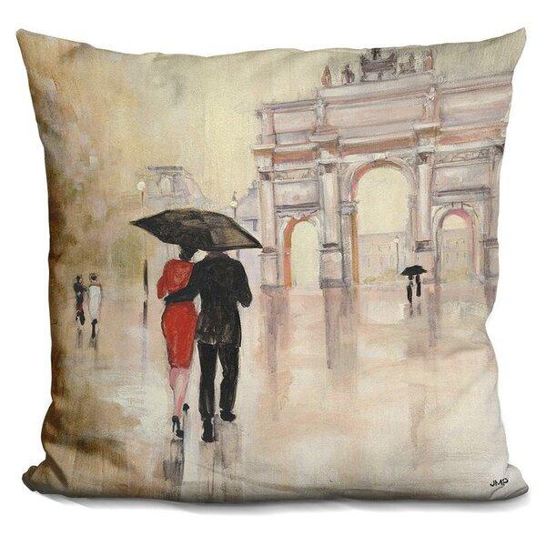 Gess Romantic Paris Throw Pillow by Winston Porter