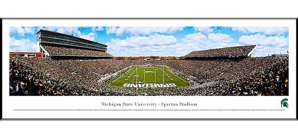 NCAA End Zone Standard Framed Photographic Print by Blakeway Worldwide Panoramas, Inc