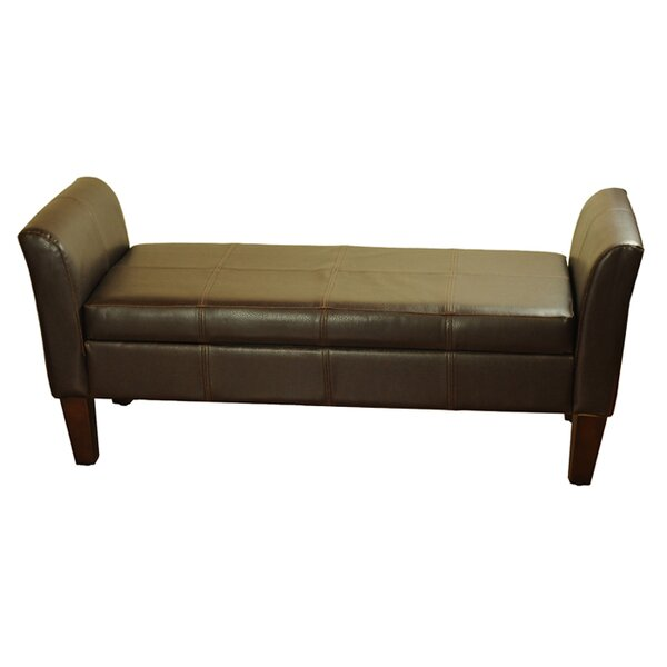 Dorsey Two Seat Bench with Storage by Alcott Hill