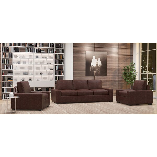 Howard 3 Piece Leather Living Room Set