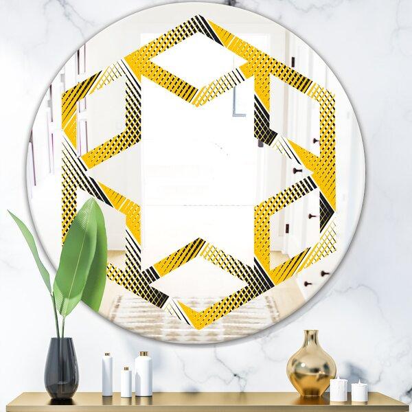 Rhombus Star Modern Frameless Wall Mirror