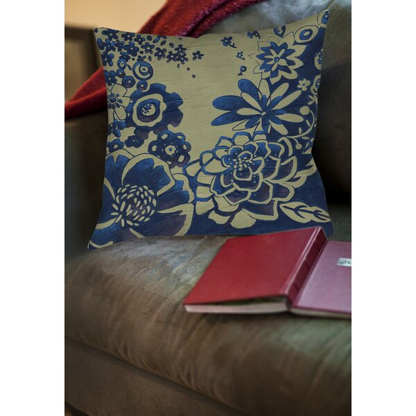 Kyoto Garden 3 Printed Throw Pillow by Manual Woodworkers & Weavers