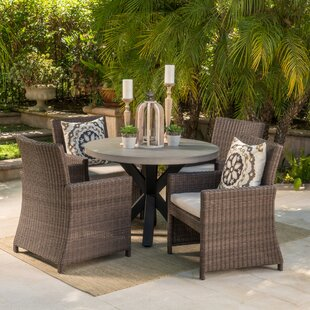 Lettie Outdoor Wicker 5 Piece Dining Set By Gracie Oaks