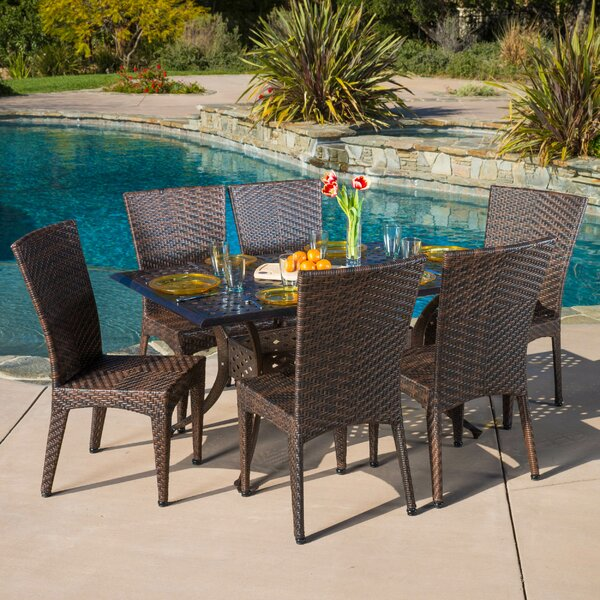 Ulrey 7 Piece Dining Set by Highland Dunes