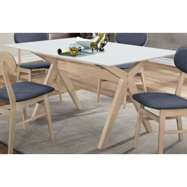 Nahunta Solid Wood Dining Table by Wrought Studio