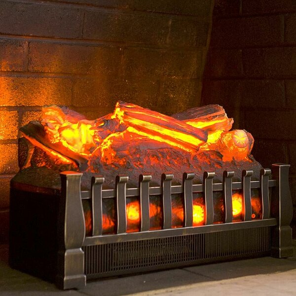 Electric Infrared Log Set with Oak Logs by Plow & Hearth