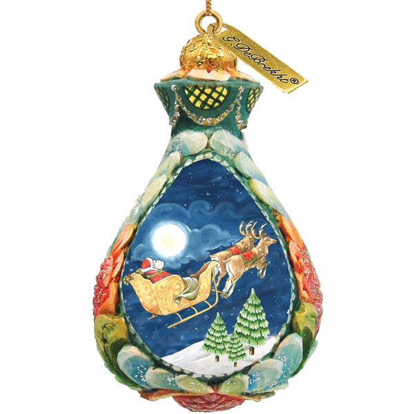 Fifield Santa on Sleigh Ornament by The Holiday Aisle