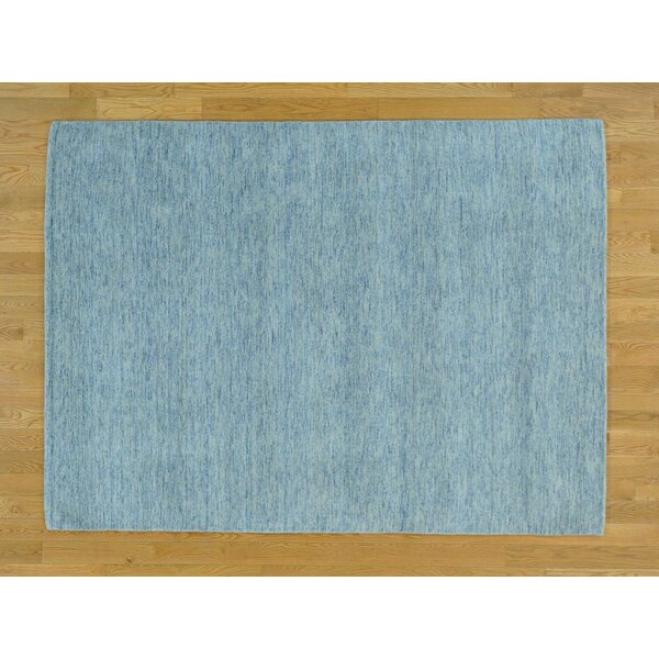 One-of-a-Kind Becker Plus Handwoven Blue Wool Area Rug by Isabelline