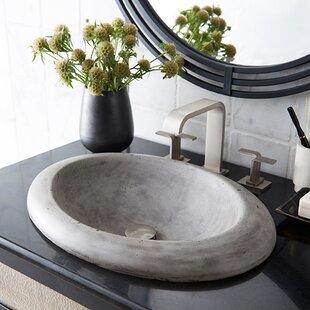 Savings Cuyama Stone Oval Drop-In Bathroom Sink ByNative Trails, Inc.