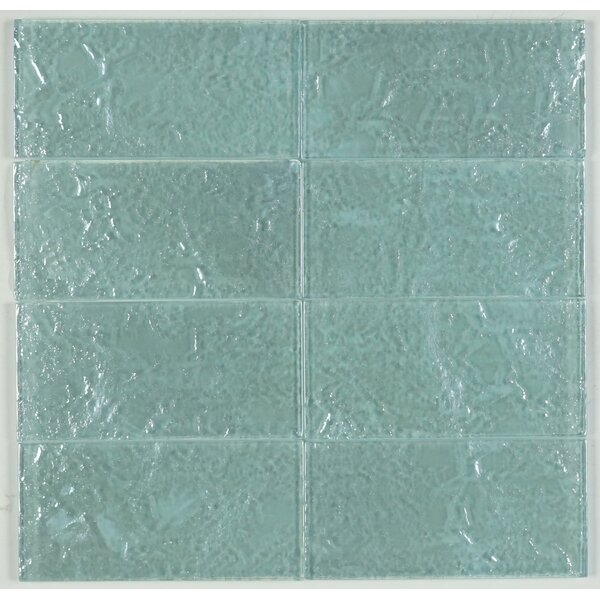 3 x 6 Glass Subway Tile in Soft Mint by Multile