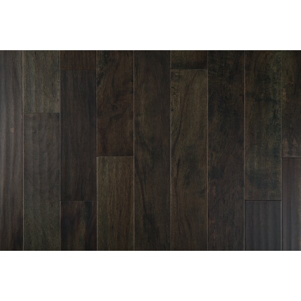 Tasmanian Night 7-1/2 Engineered Acacia Hardwood Flooring in Charcoal by GoHaus