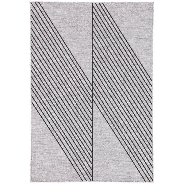 Binford Geometric Light Gray Indoor/Outdoor Area Rug by Wrought Studio