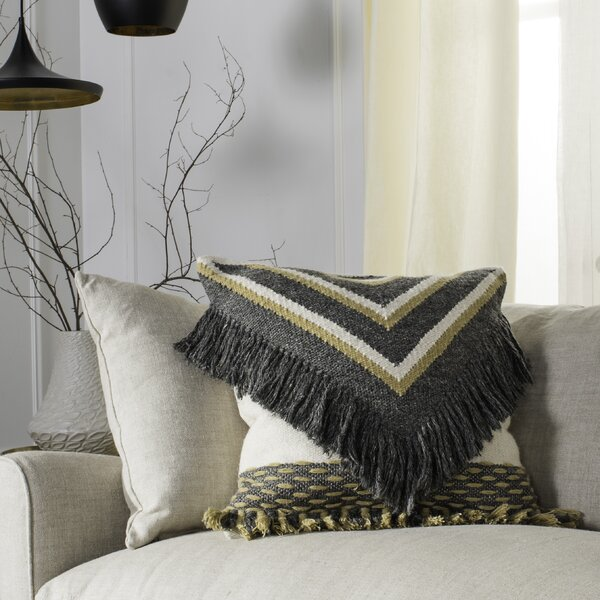 Banner Wool Throw Pillow by Foundry Select