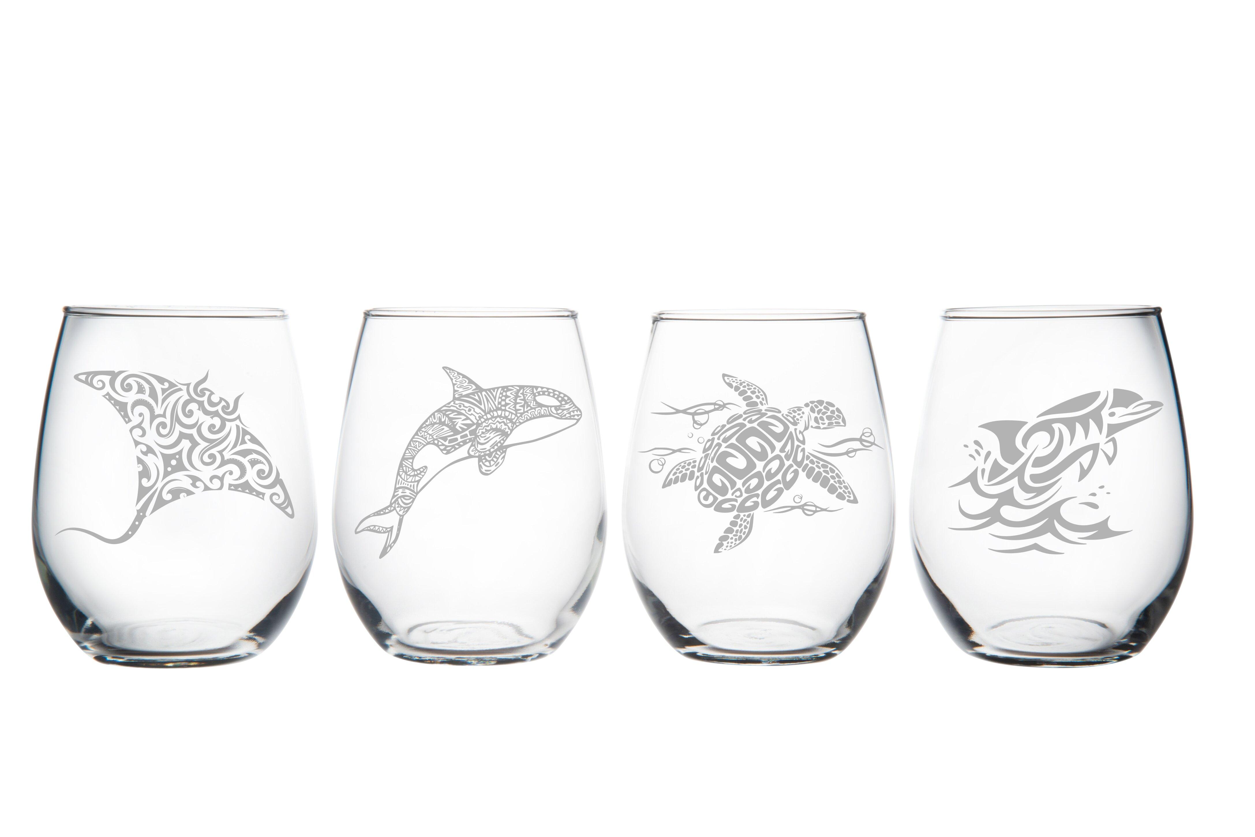 Rosecliff Heights Hazley 4 Piece 15 Oz All Purpose Wine Glass Set Wayfair