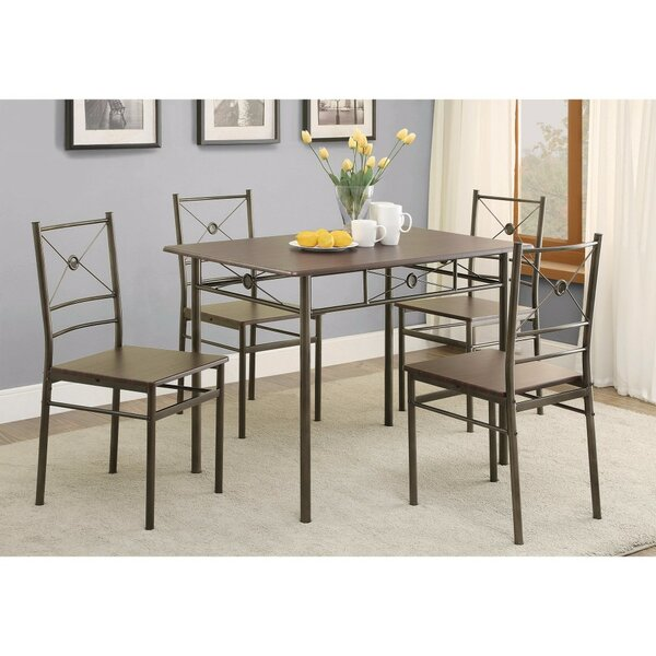 Mazzola 5 Piece Dining Set by Williston Forge