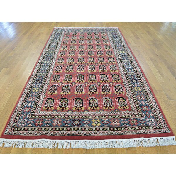 One-of-a-Kind Bearfield Paisley Design Hand-Knotted Red Wool Area Rug by Isabelline