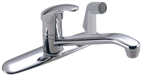 Symmetrix Single Handle Kitchen Faucet with Side Spray by Symmons