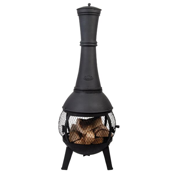 Stove Cast iron Wood Burning Chiminea by EsschertDesign