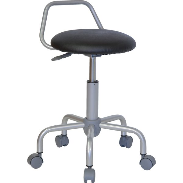 Height Adjustable Stool with Raised Bar Backrest by Flash Furniture