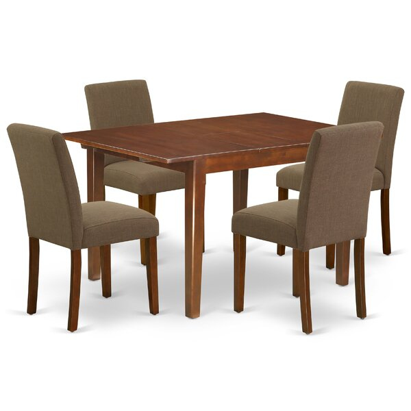 Tuoi 5 Piece Extendable Solid Wood Dining Set by Winston Porter Winston Porter