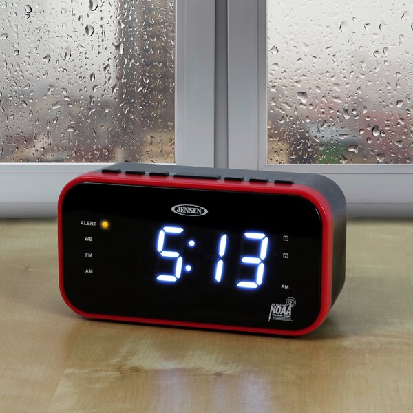 AM/FM Band Weather Alert Desktop Clock by Jensen
