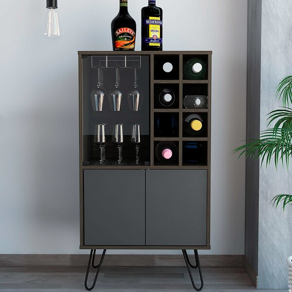 Mylah Bar With Wine Storage By Union Rustic