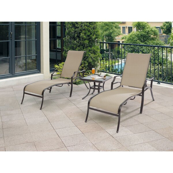Chantilly 3 Piece Lounge Seating Group by Wildon Home ®