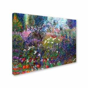 Garden in Maui II by Manor Shadian Painting Print on Wrapped Canvas by Trademark Fine Art
