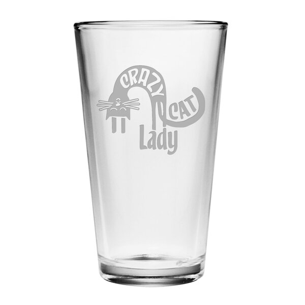 Crazy Cat Lady Pint Glass (Set of 4) by Susquehanna Glass