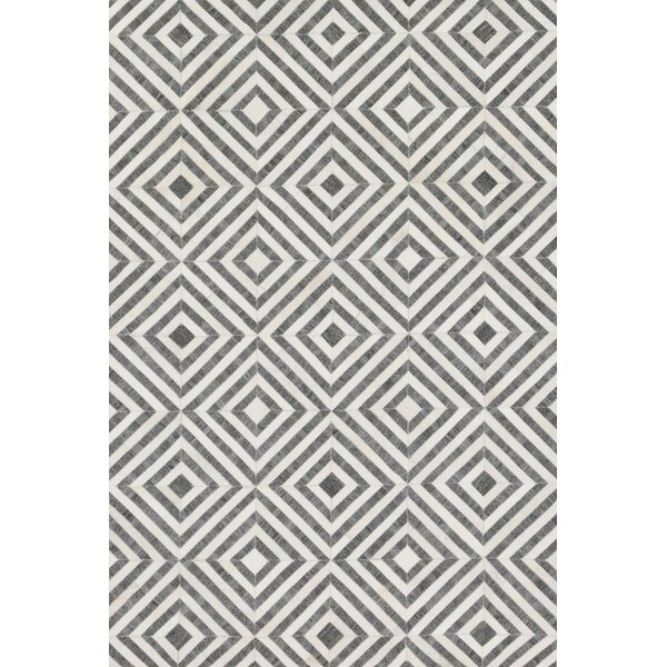 Winnett Hand-Woven Charcoal/Ivory Area Rug by Brayden Studio